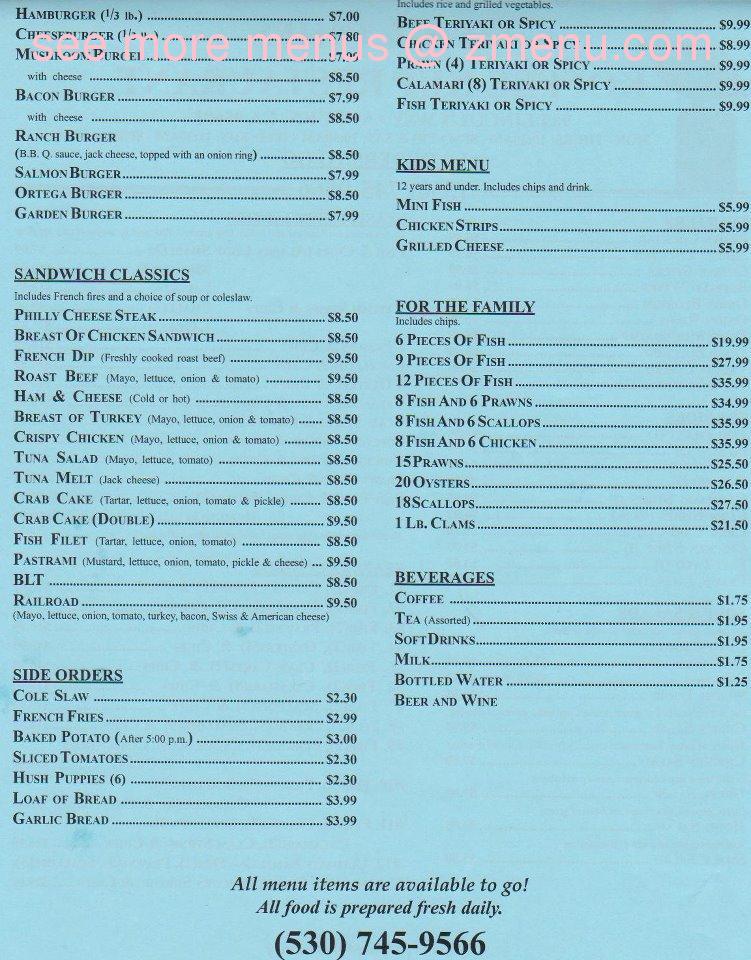Online Menu Of Pelicans Roost Fish Amp Chips Restaurant