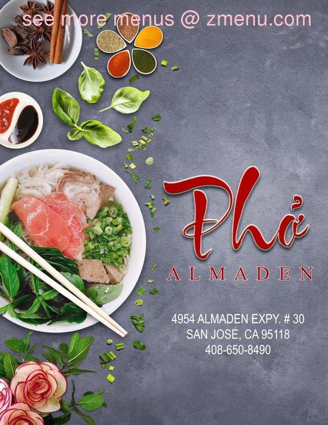 Online Menu Of Pho Almaden Restaurant San Jose California 95118 Zmenu