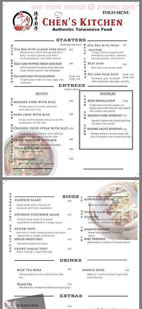 online menu of chens kitchen restaurant littleton