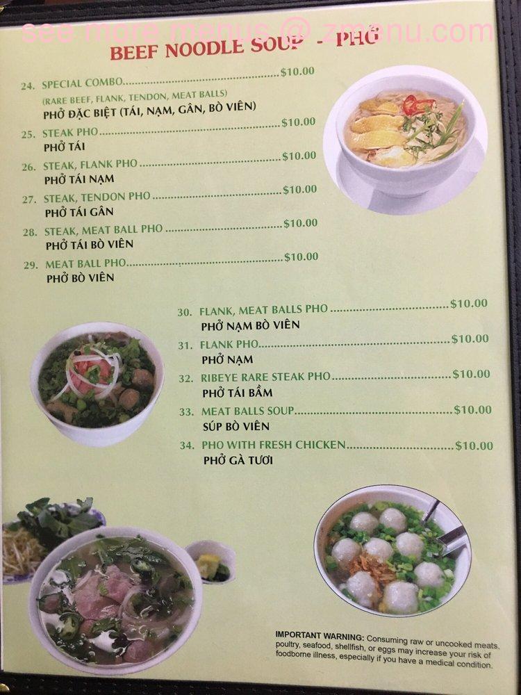 Online Menu Of Pho Viet Restaurant Bloomsburg Pennsylvania 17815 Zmenu