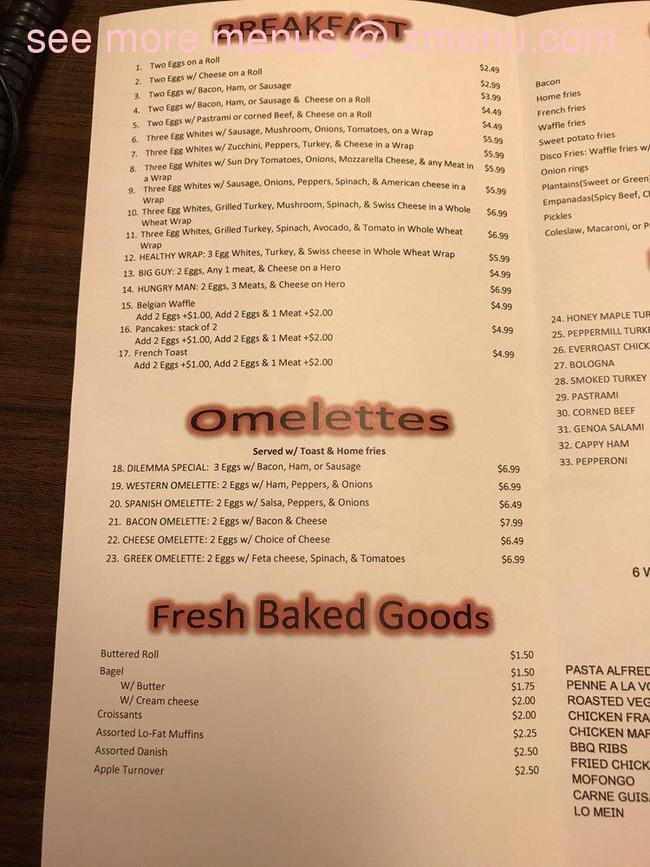 Online Menu Of Chriss Deli Restaurant Mineola New York