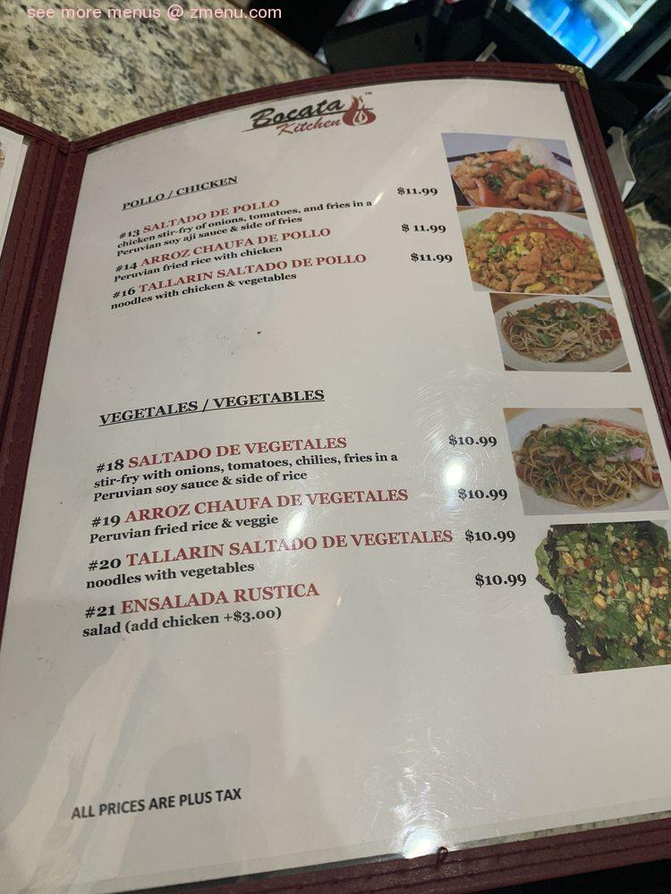Online Menu Of Bocata Kitchen Restaurant Los Angeles California 90062 Zmenu