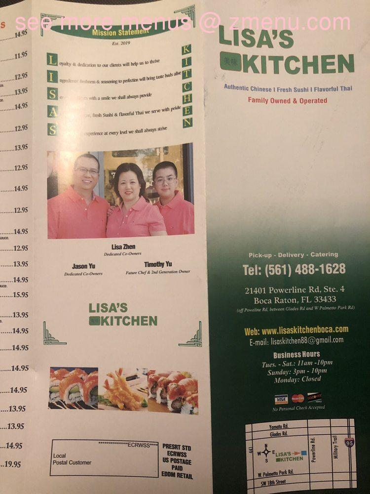 Online Menu Of Lisas Kitchen Restaurant Boca Raton Florida 33433 Zmenu