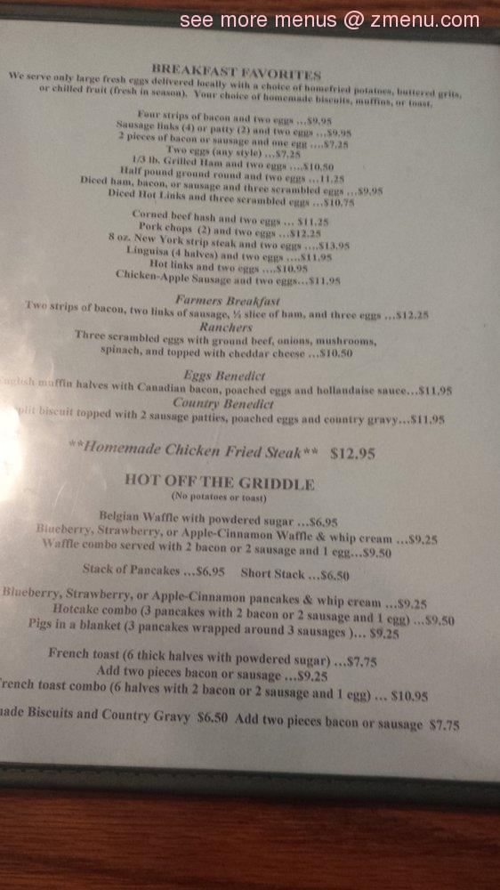 Online Menu Of Stagecoach Restaurant Restaurant Elk Grove