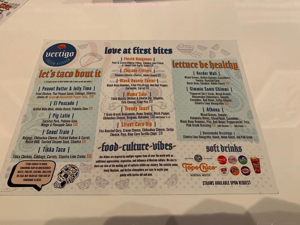 Online Menu Of Vertigo Fusion Kitchen Restaurant Columbus Georgia 31901 Zmenu