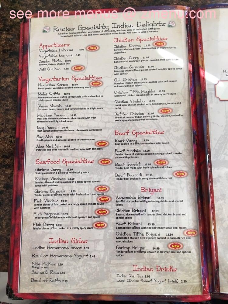 Online Menu Of Rosies Country Kitchen Restaurant Rancho