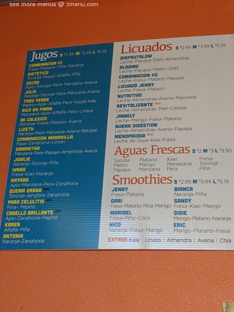Online Menu Of Disfrutalow Restaurant Calexico California 92231 Zmenu