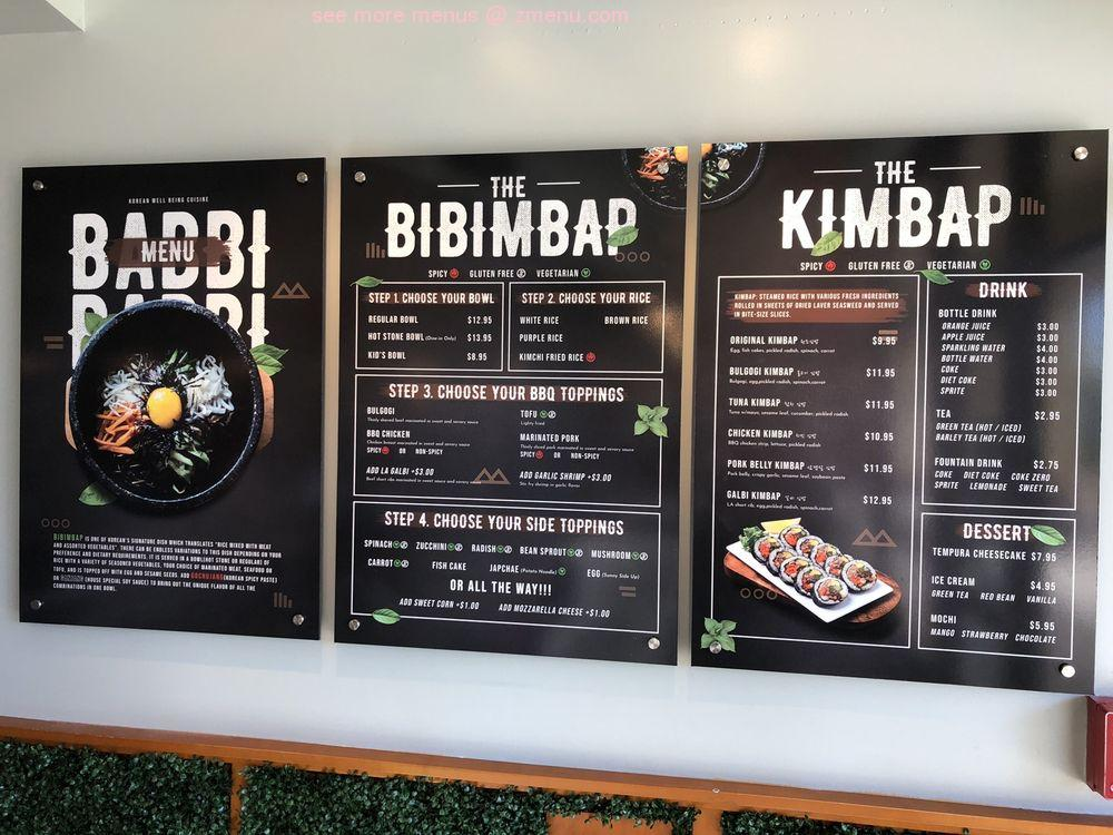Online Menu Of Babbi Babbi Korean Kitchen Restaurant Orlando Florida 32819 Zmenu