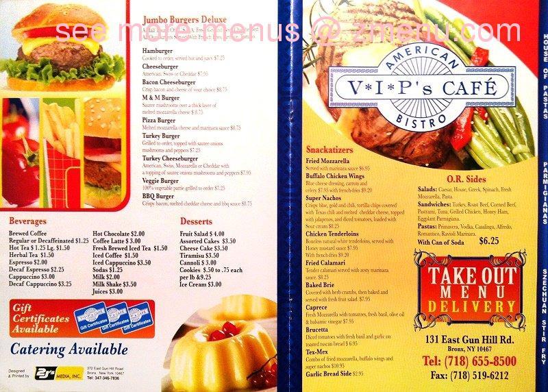 Online Menu Of Vip S Cafe Restaurant Bronx New York