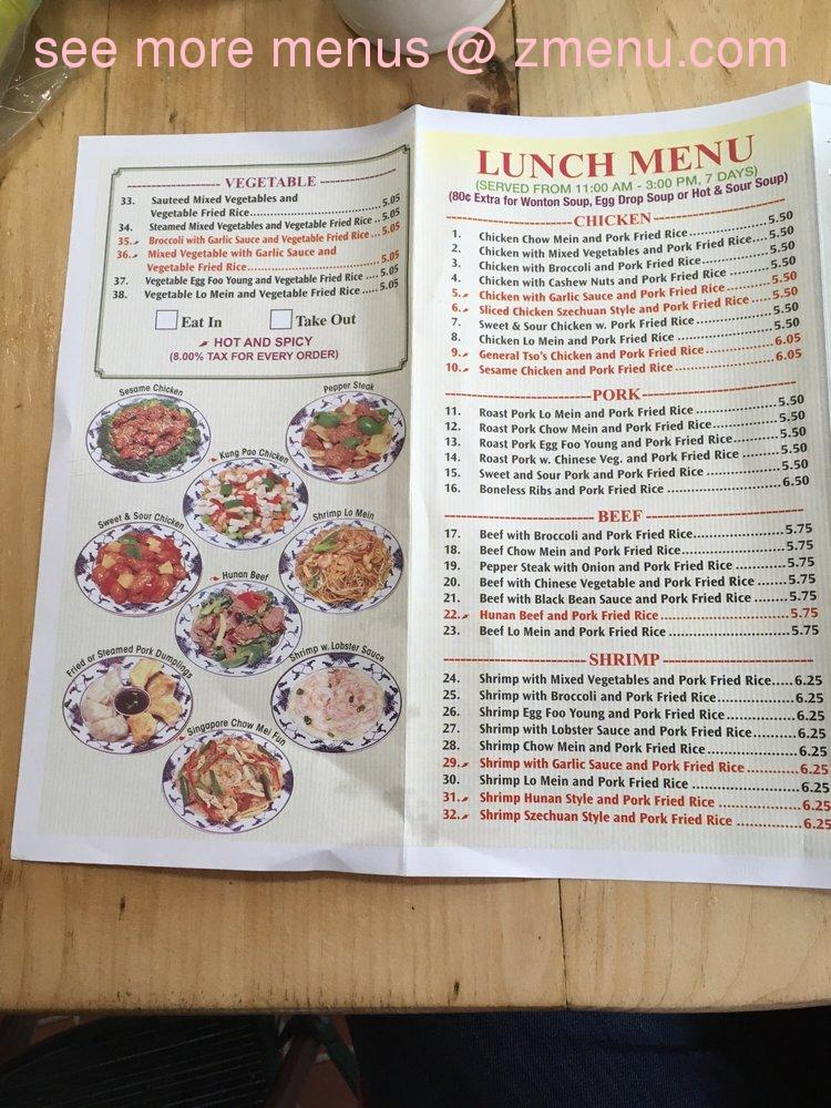 Dunkin Donuts Open Now: Online Menu Of Ming Moon Restaurant Restaurant, Stone