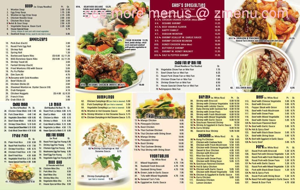 Online Menu Of Four Season Kitchen Restaurant West Islip