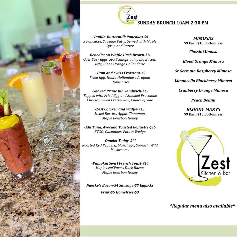 Online Menu Of Zest Kitchen Bar Restaurant Port St Lucie Florida 34986 Zmenu