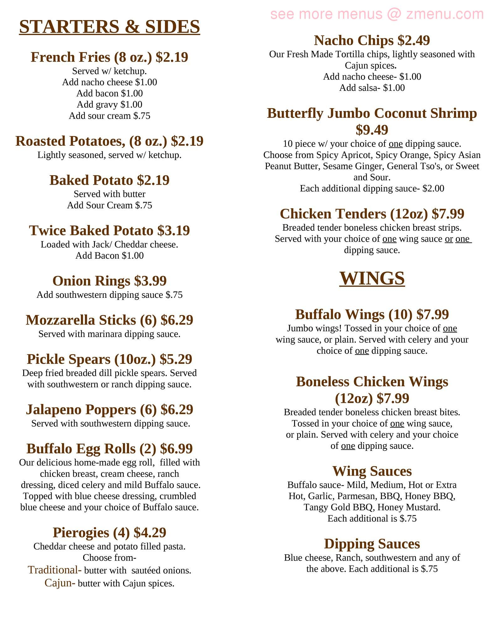 Online Menu of Halftime Lounge Restaurant, Whitney Point, New York ...