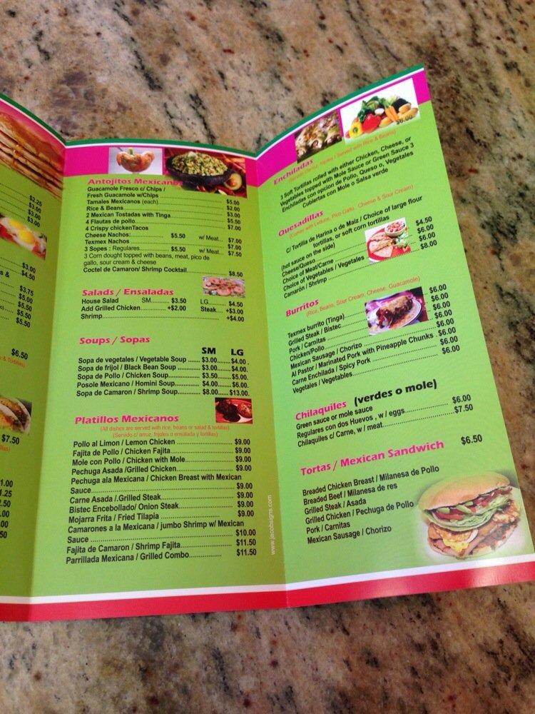 Flagstaff menu