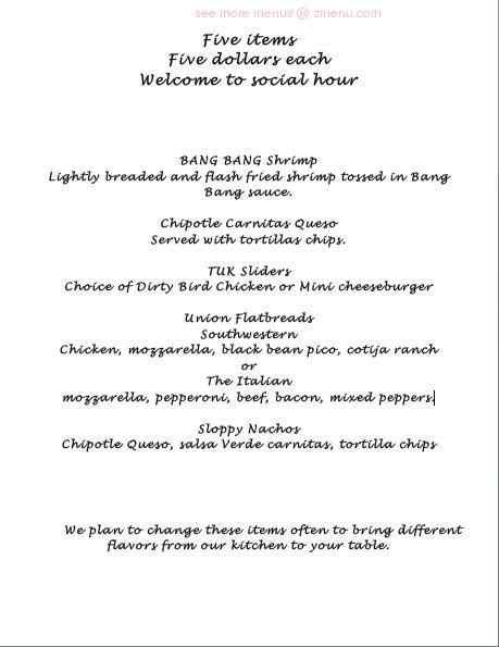 Online Menu Of The Union Kitchen Katy Restaurant Katy Texas 77494 Zmenu