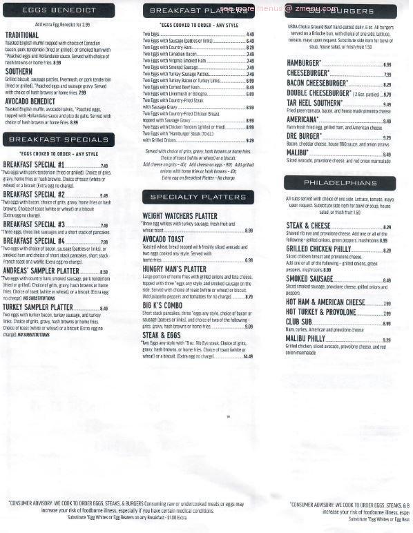Online Menu Of 801 Southern Kitchen And Pancake House Restaurant Advance North Carolina 27006 Zmenu