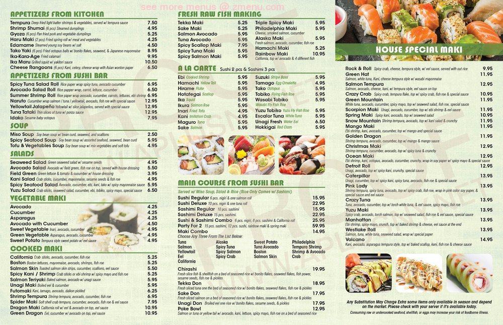 Online Menu Of Yuzu King Japanese Cuisine Restaurant Westlake Ohio 44145 Zmenu