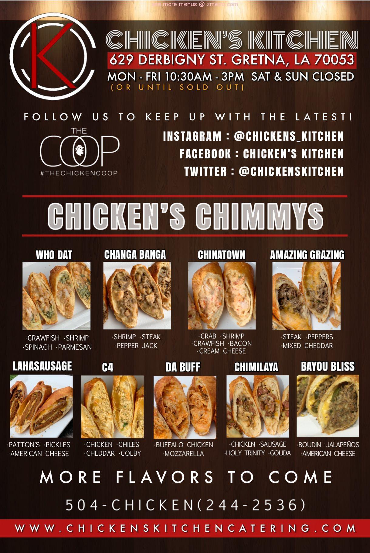 Online Menu Of Chickens Kitchen Restaurant Gretna Louisiana 70053 Zmenu