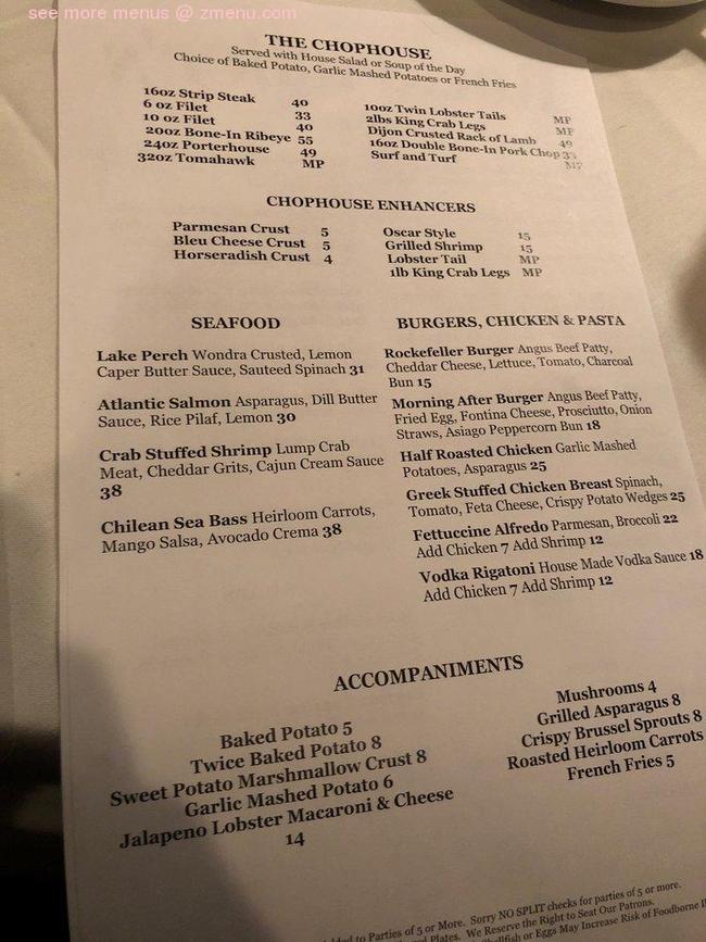 Online Menu of Rockefellers Restaurant, Oak Lawn, Illinois, 60453 - Zmenu