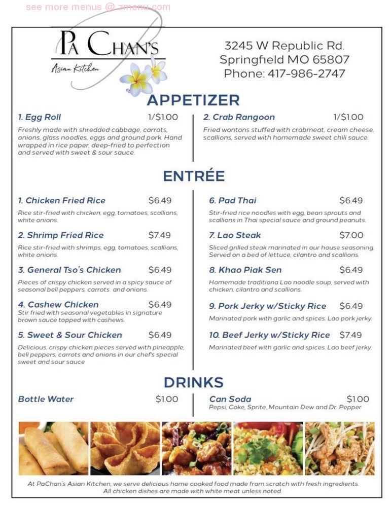 Online Menu Of Pachans Asian Kitchen Restaurant Springfield Missouri 65807 Zmenu