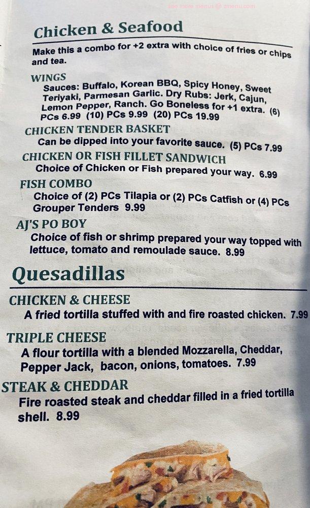 Online Menu Of Aj S Kitchen Restaurant Lumberton North Carolina 28358 Zmenu