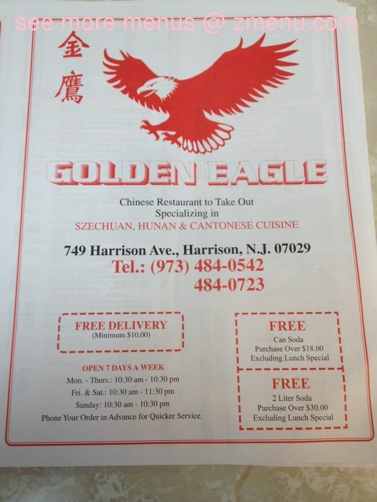 Online Menu Of Golden Eagle Chinese Restaurant Restaurant Harrison