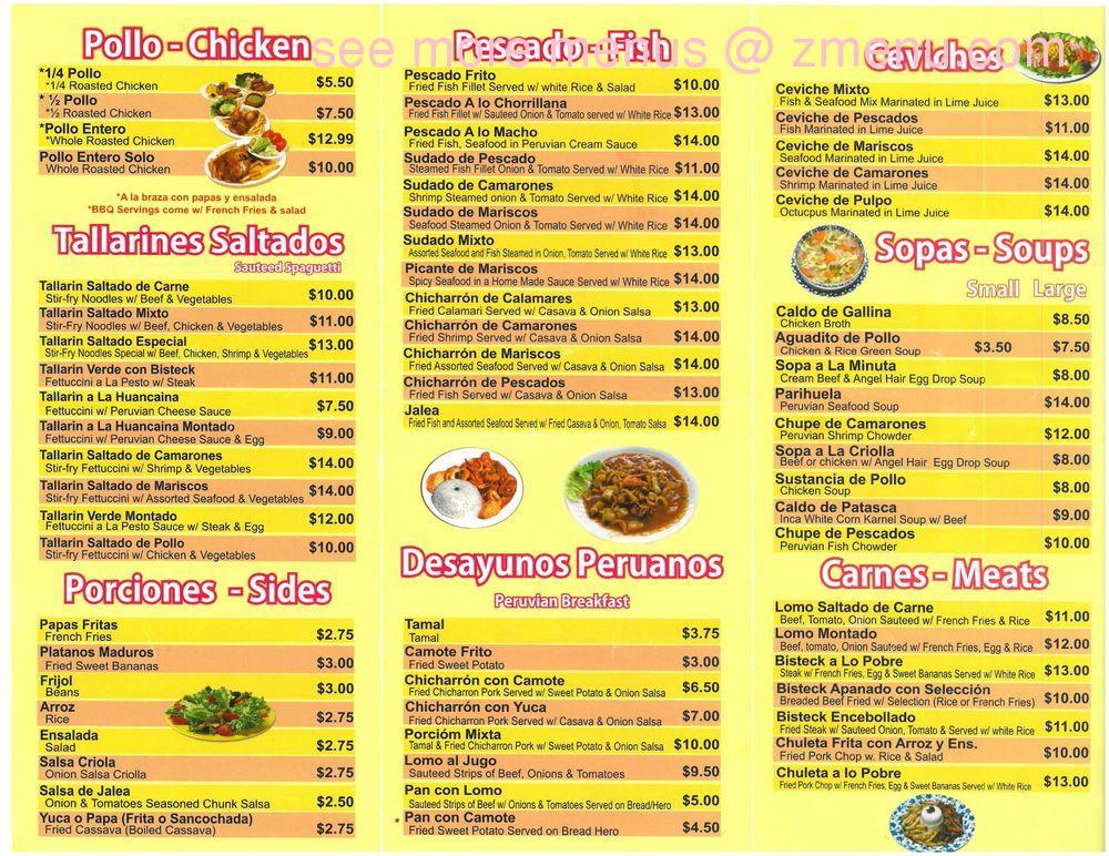 Online Menu Of La Roja Y Blanca Restaurant Harrison New Jersey