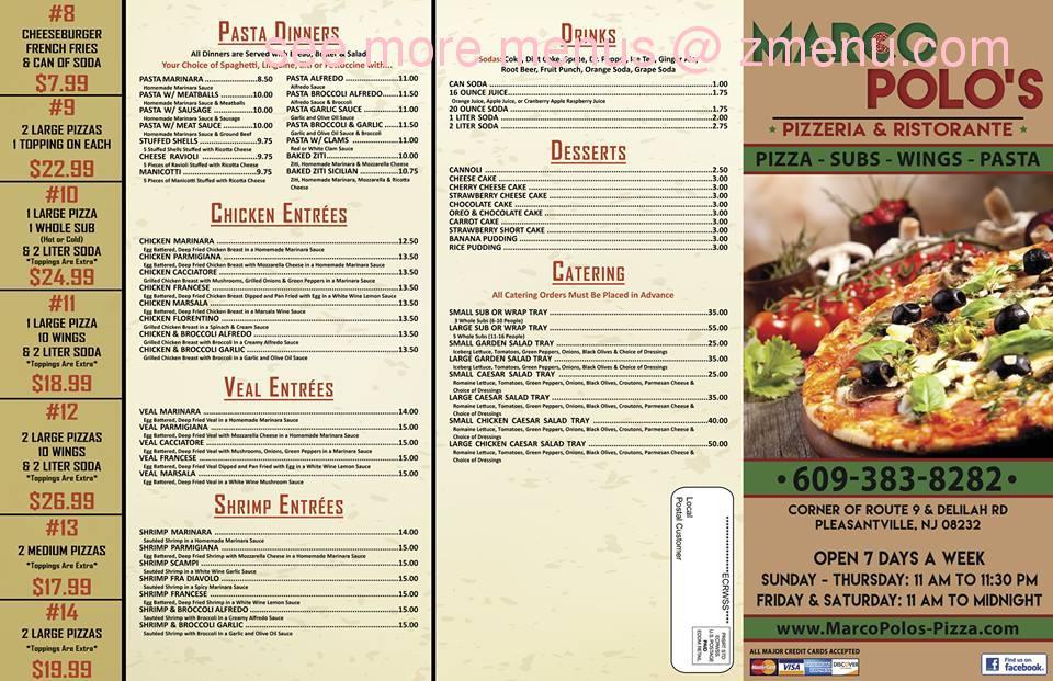 12c3f4e4c6 Online Menu of Marco Polos Pizzeria & Ristorante Restaurant ...