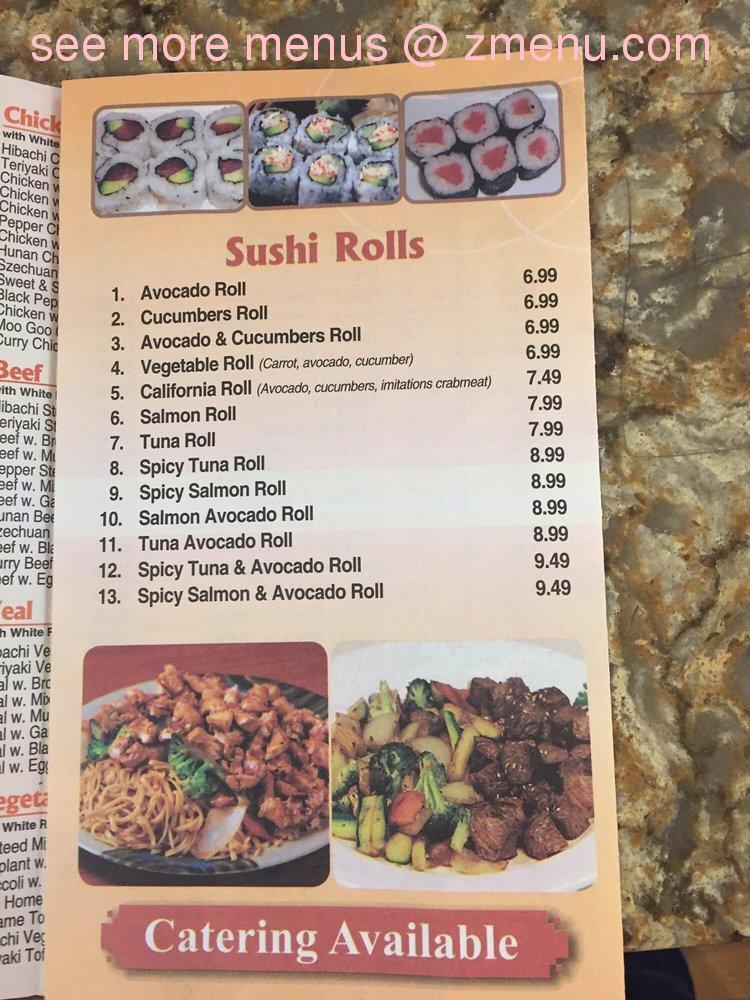 Online Menu Of Tokyo Hibachi Restaurant Springfield New