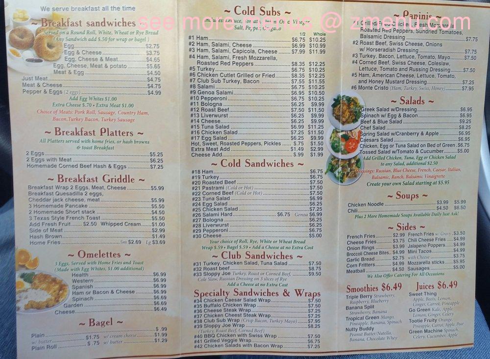 Online Menu of Way Beyond Deli Restaurant, Tinton Falls, New ...
