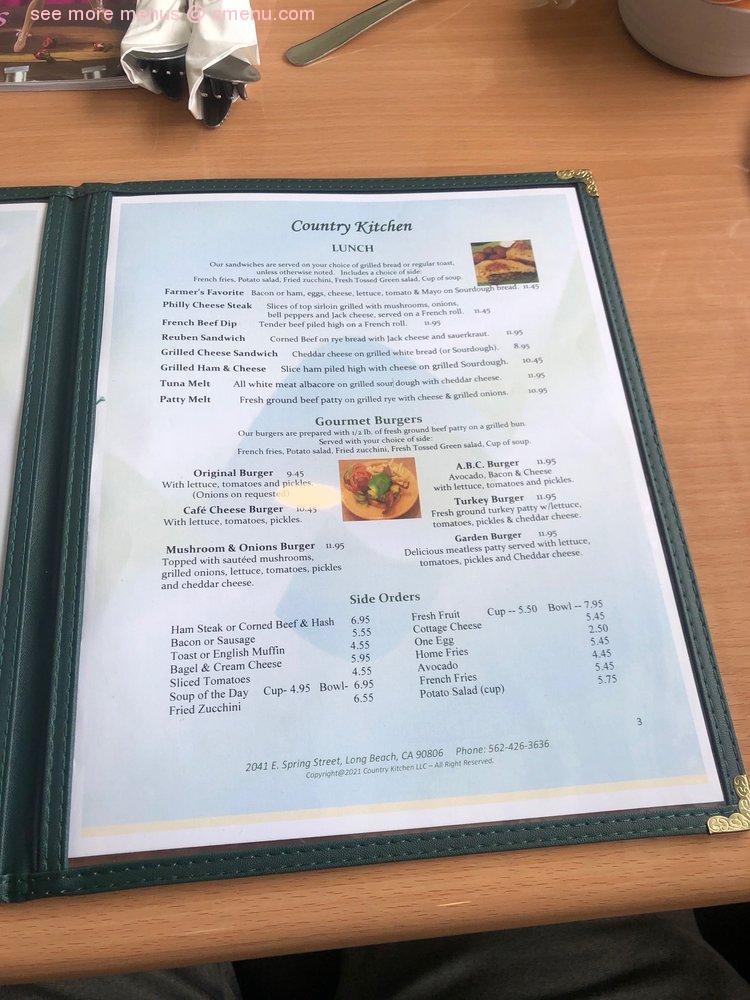 Online Menu Of Country Kitchen Restaurant Long Beach California 90806 Zmenu