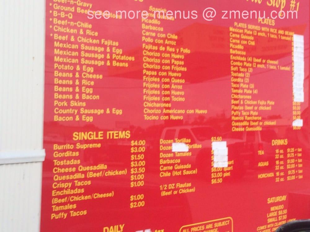 Online Menu Of La Popular Bakery Burrito Stop Restaurant Abilene Texas 79602 Zmenu