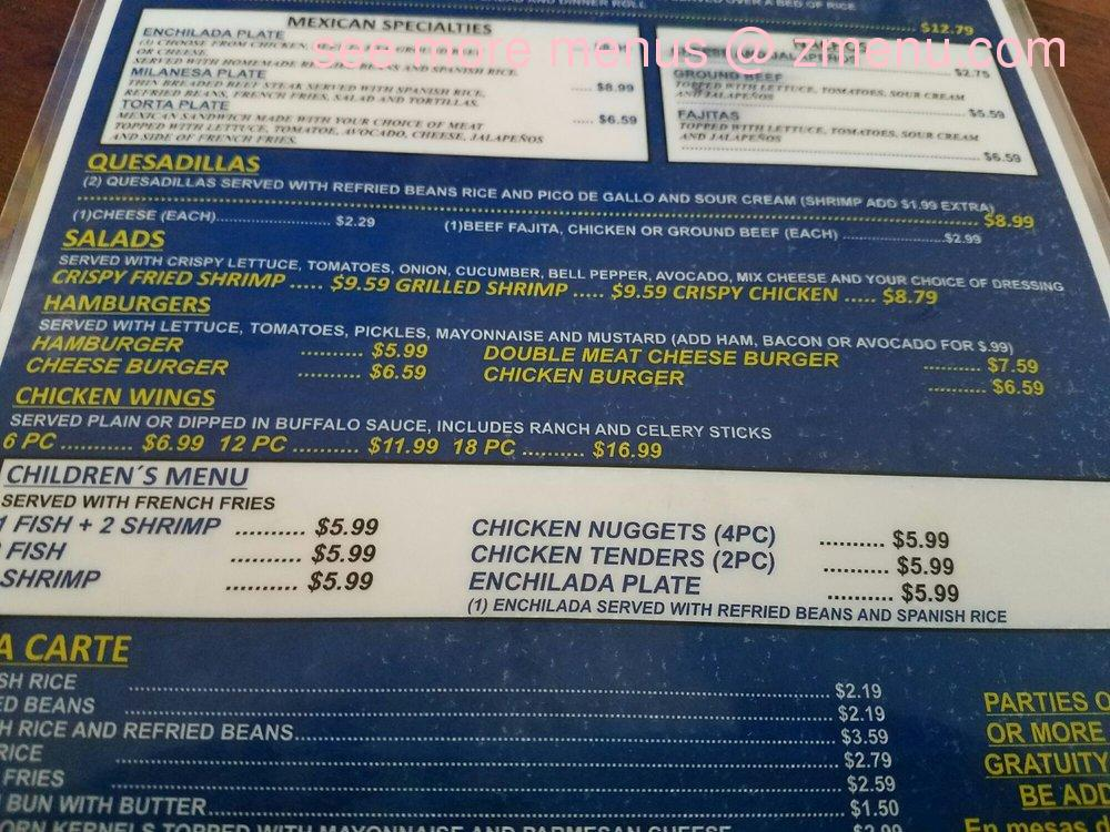 Oasis Mexican Cafe Menu