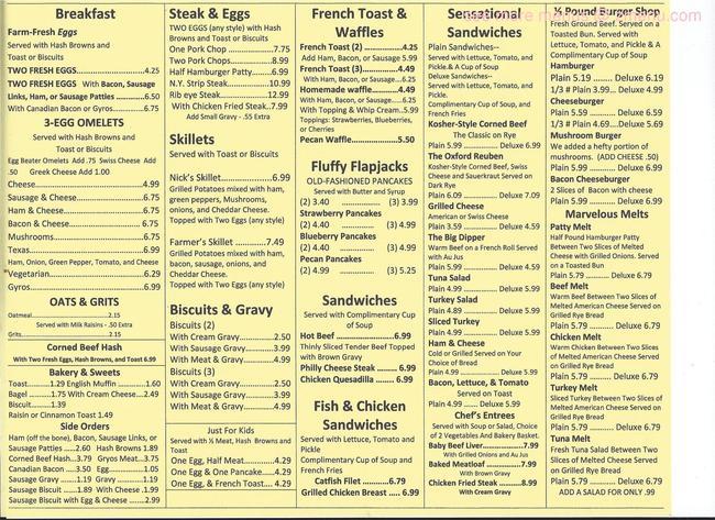 Nick S Family Restaurant Denison Tx