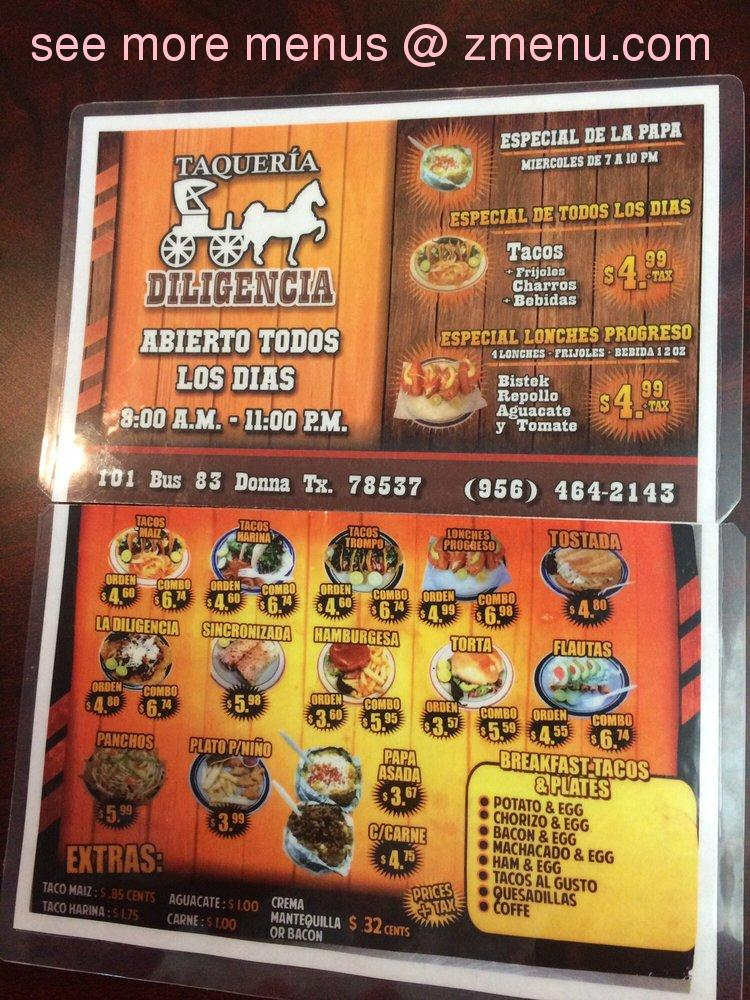 Danny S Mexican Restaurant Menu