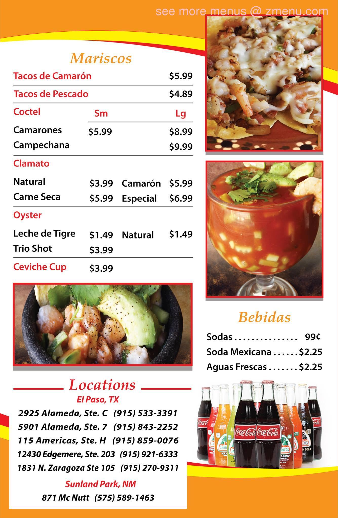 Online Menu of Tacos Don Cuco Restaurant, El Paso, Texas, 79905 - Zmenu