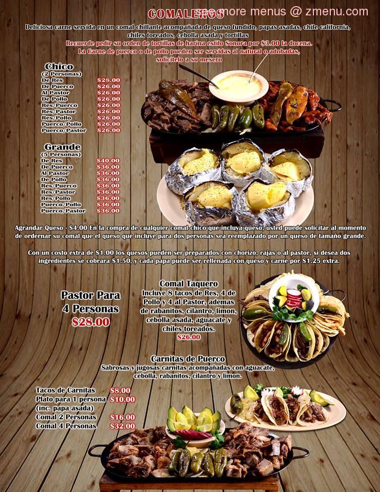 Online Menu of Tacos El Toro Bronco Restaurant, El Paso, Texas, 79930 - Zmenu