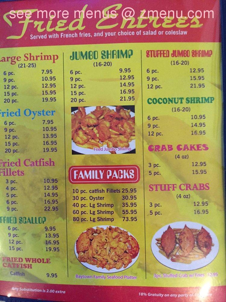 Freeport Restaurant Menu