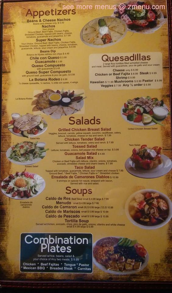 Online Menu Of New Rodeo Mexican Grill Restaurant