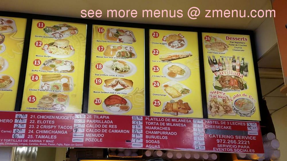 Grand Azteca Restaurant Menu