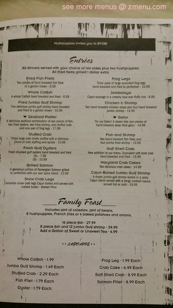 Hush Restaurant Menu Prices