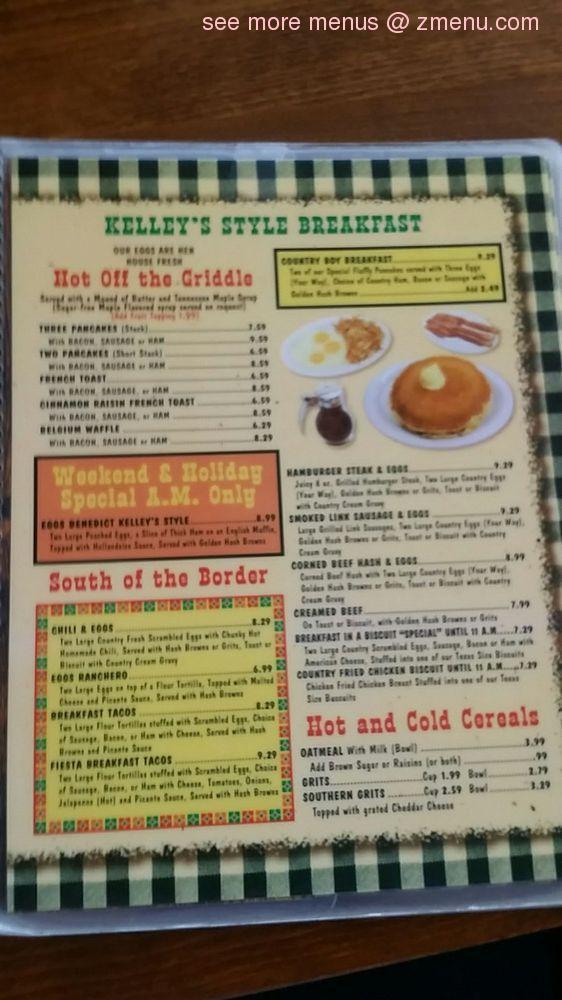 Online Menu of Kelleys Country Cookin Restaurant, Houston