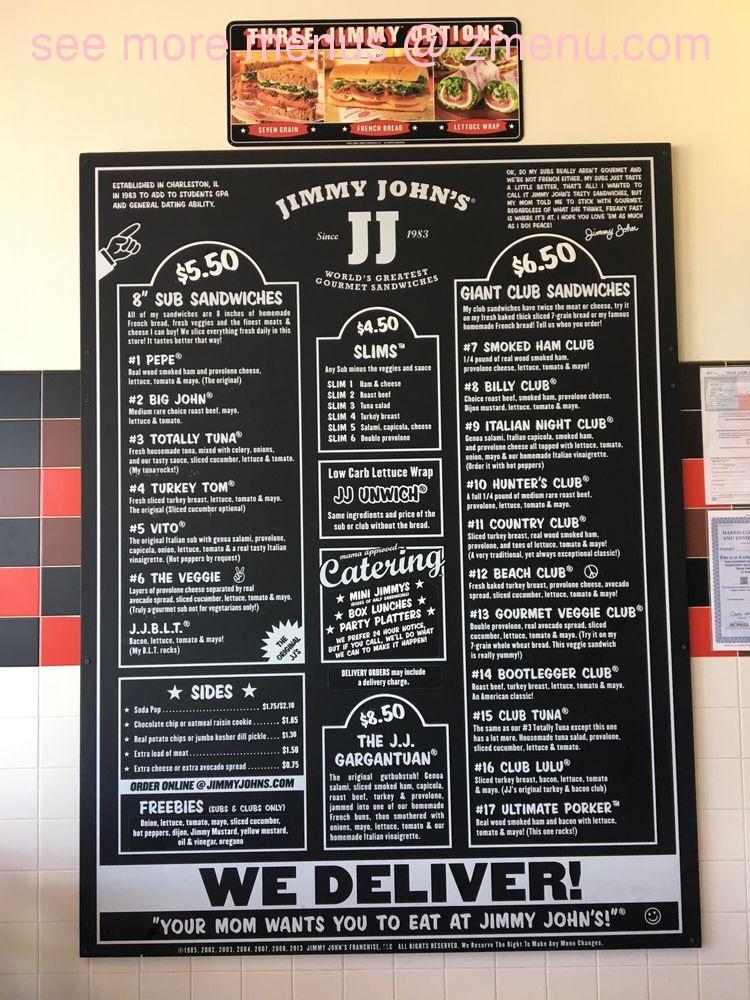 Online Menu of Jimmy Johns Restaurant, Humble, Texas ...