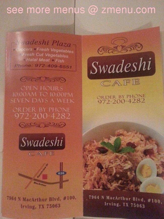 Swadeshi Restaurant Irving Tx