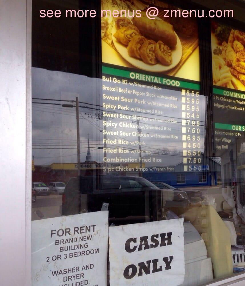 Online Menu of Oriental Kitchens & Yakimando Restaurant, Killeen ...