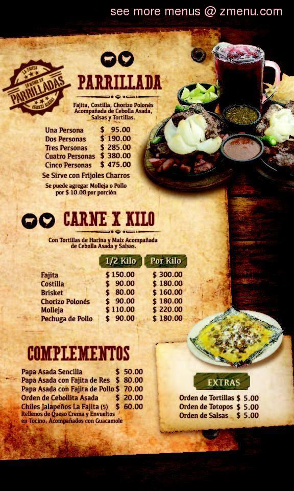 Online Menu Of La Fajita De Nuevo Laredo Llc Restaurant