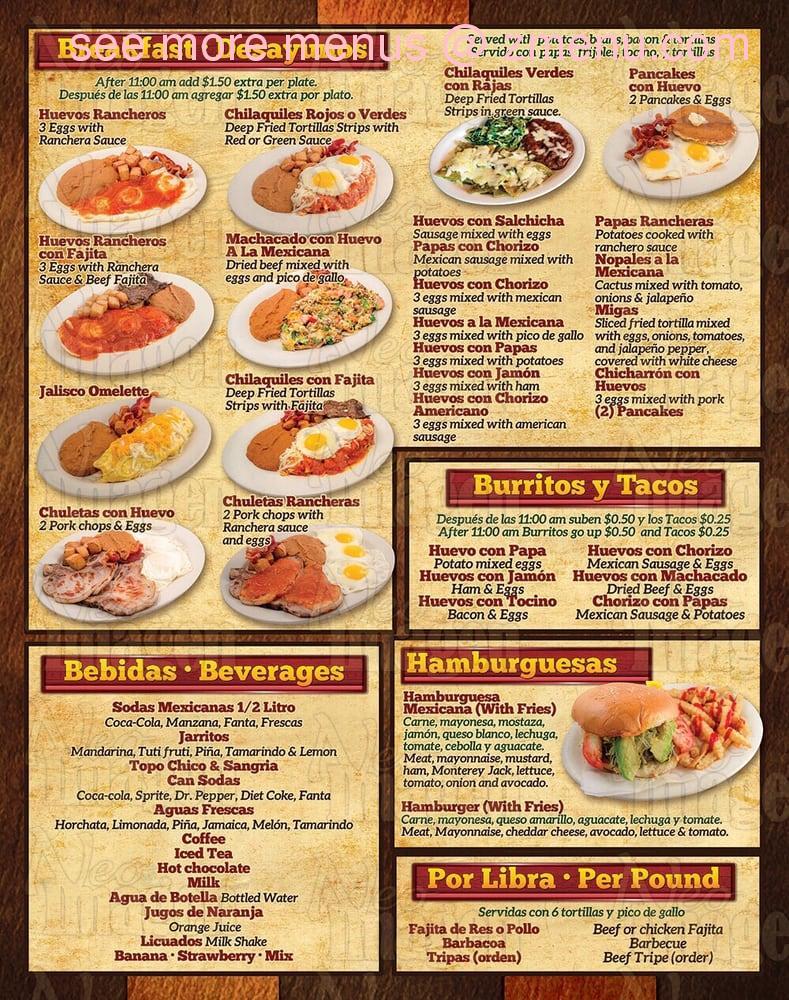 Online Menu of Taqueria El Sol De Jalisco Restaurant, Pasadena ...