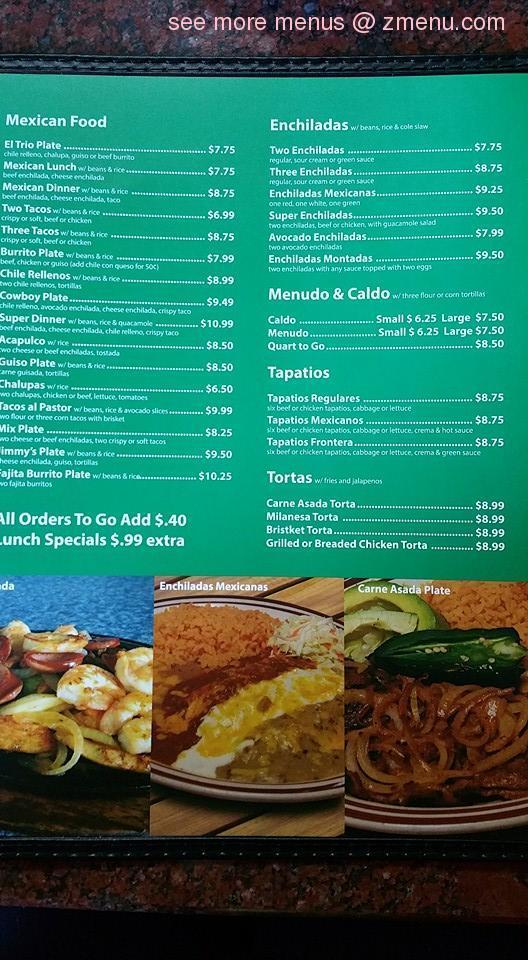 Online Menu Of La Esperanza Restaurant