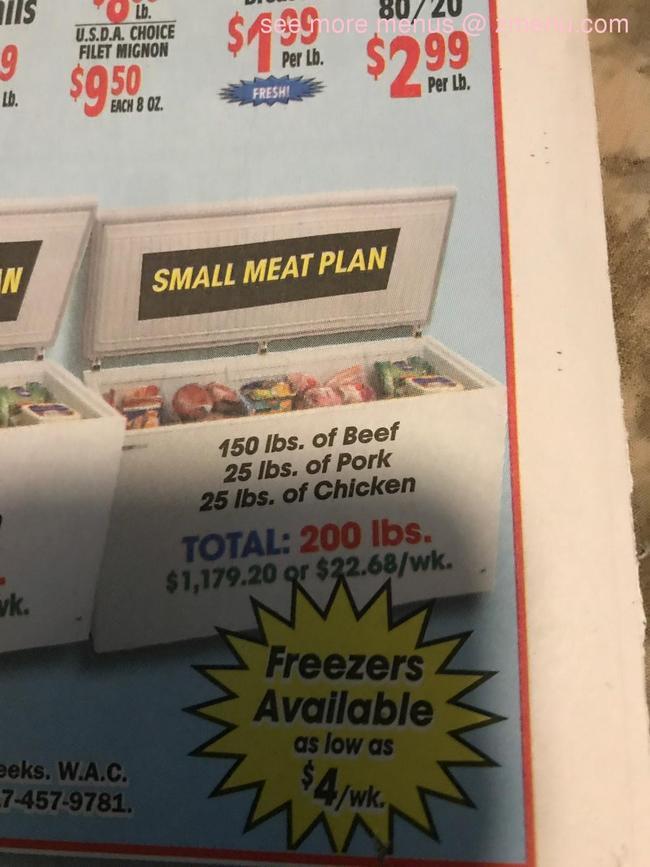 Online Menu of Old Plantation Meats Restaurant, Springtown ...