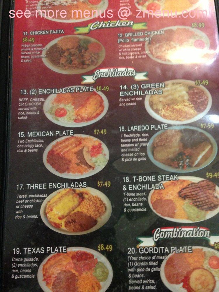 Guadalajara Mexican Restaurant Menu